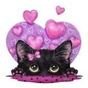 Pink cat heart thumb175