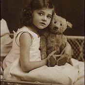 Girl   antique teddy bear thumb175
