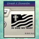 A1 in god we trust decal sticker black change thumb128
