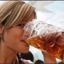 Girl drinking beer 2 thumb128