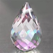 Rainbow topaz briolette 2.70ctw 9.6x6.2mm africa if clarity drilled  12  thumb175