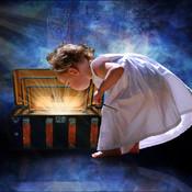 Little girl opening treasure chest 1  thumb175