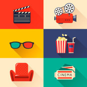 Stock illustration 76275689 modern cinema icons set thumb175