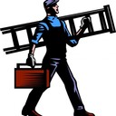 Man with ladder  clip art free use 6troarptk thumb128
