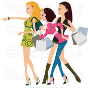 Shopping women looking and pointing by bnp design studio 6 thumb175