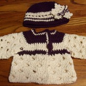 Crochet baby hat and sweater thumb175
