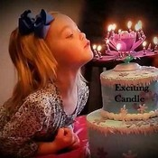 Cute girl w exciting candle thumb175