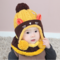 S winter warm cute cat cartoon protecte ear hat scarf set cute knitted cotton hats set 1 thumb48