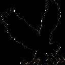 Monkey silhouette left thumb128