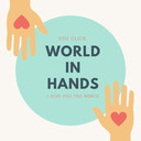 Yellow and mint hand vectors world cancer day social media graphics thumb128