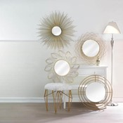 Modern gold wall mirror thumb175