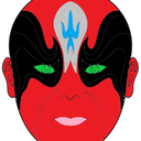 Chinese opera mask 4 coloring pages thumb128