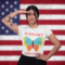 T shirt mockup of a woman doing a patriotic salute 27861 thumb48